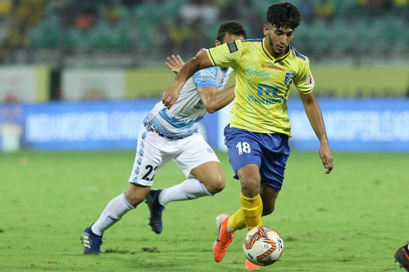 Hume played with Sahal at Kerala Blasters