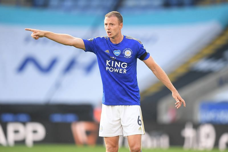Jonny Evans in action for Leicester City