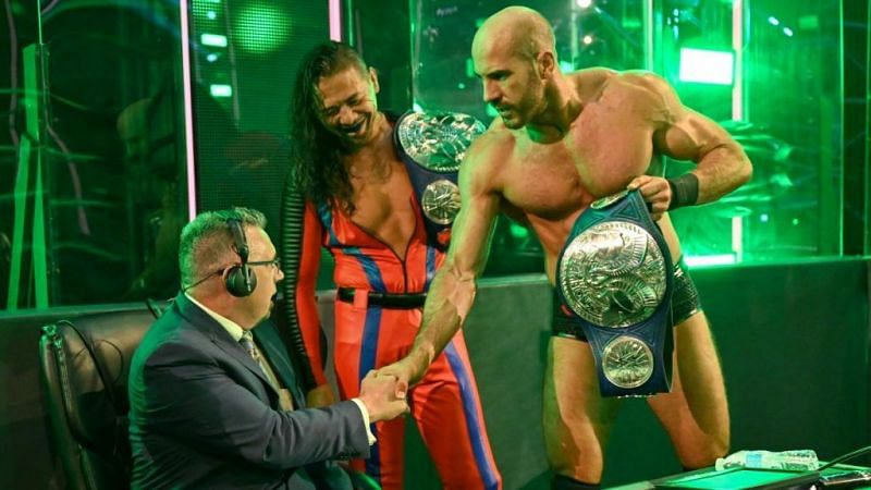 Cesaro and Shinsuke Nakamura captured the Smackdown Tag Team Championships at The Horror Show at Extreme Rules
