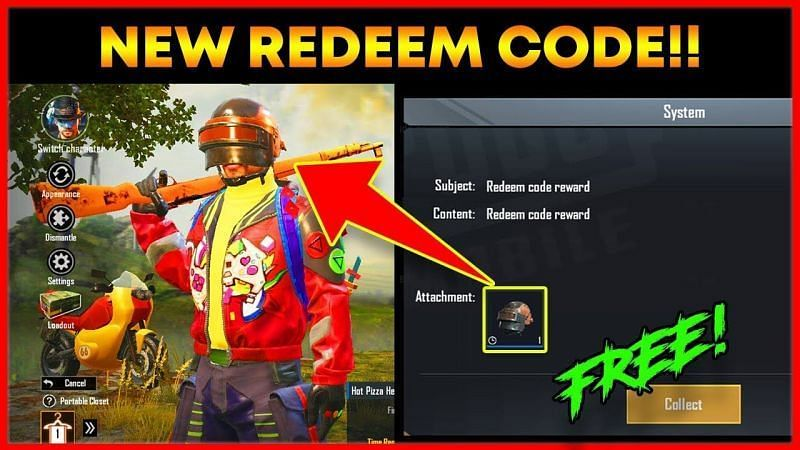 New PUBG Mobile redeem codes (Picture Courtesy: Spark Subh/YT)