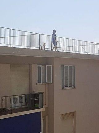 Roger Federer prepares for a cross-roof shot