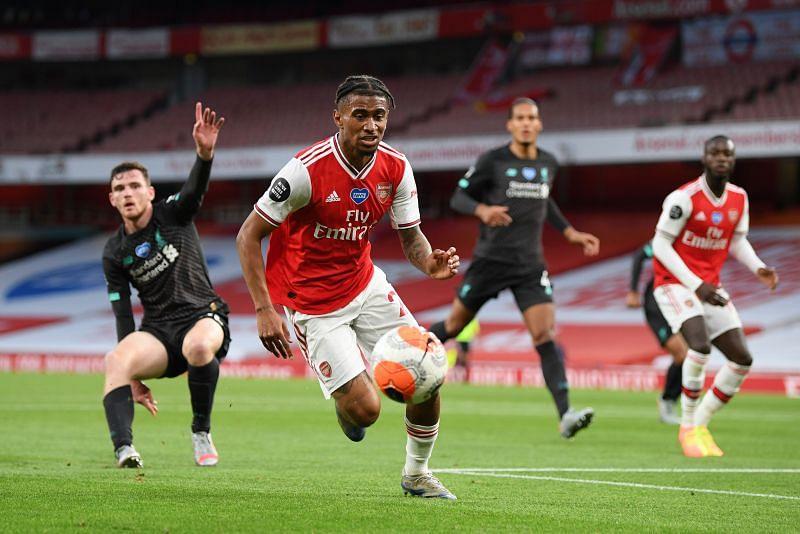 Reiss Nelson scored the winning goal against Liverpool