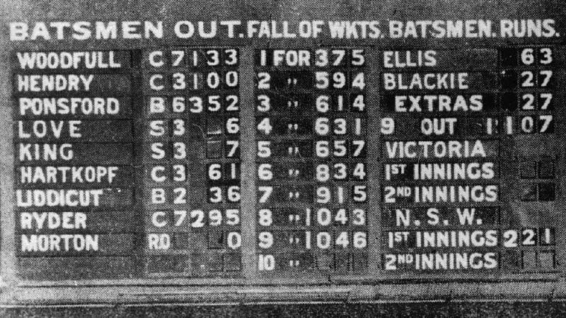 2 मौके जब प्रथम श्रेणी क्रिकेट में 1000 से ऊपर रन बने