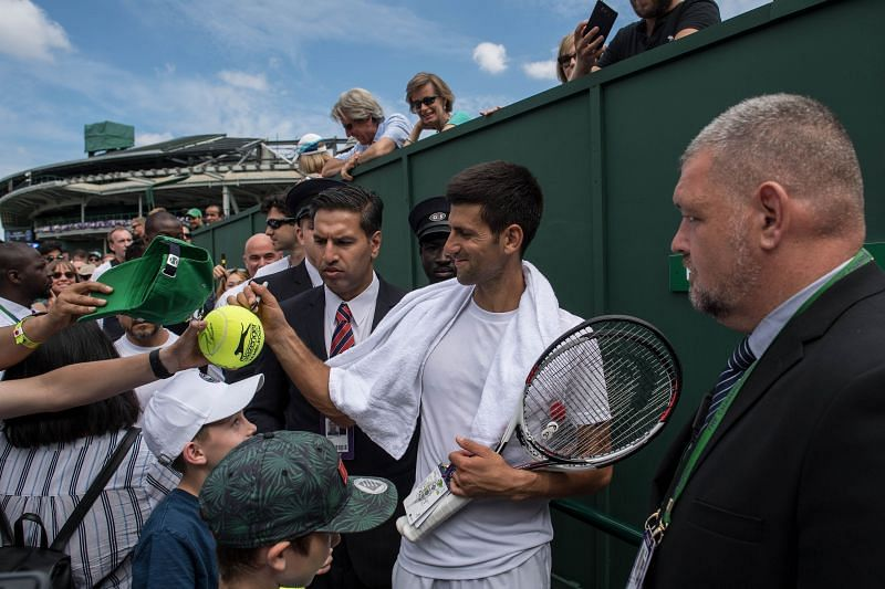 Novak Djokovic is known for his wholesome fan interactions