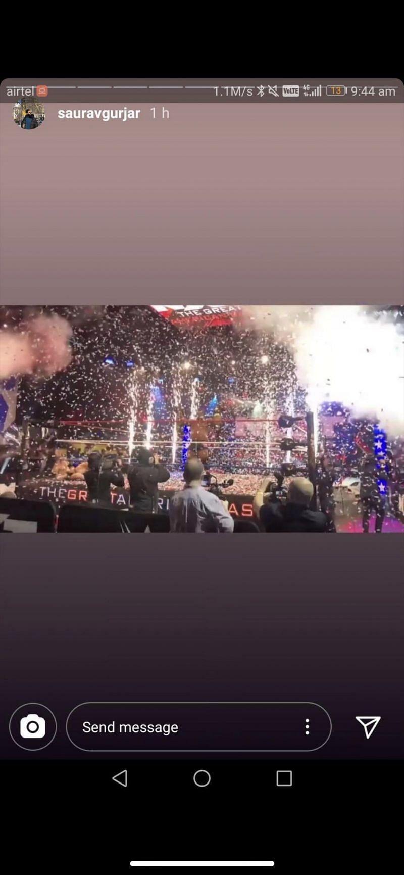 Saurav Gurjar seemingly spoiled the result of Cole vs. Lee