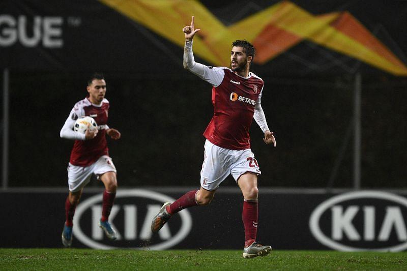 Braga striker Paulinho in action