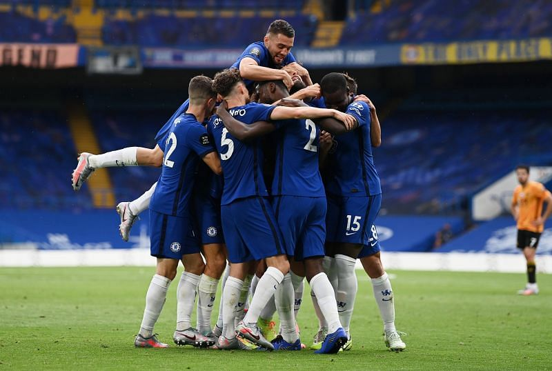 Chelsea confirmed their place in the Champions League with a commanding win over Wolves