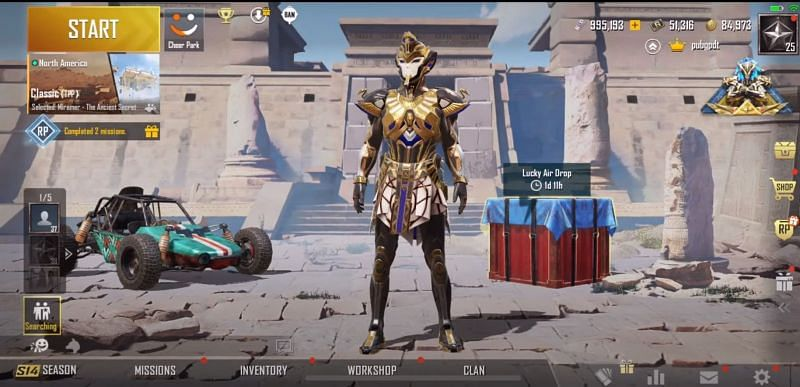 Pharaoh X-Suit (Picture Courtesy: PUBG Mobile India / YouTube)