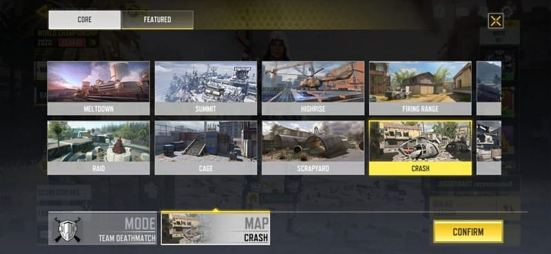 Some of the maps in the Team Death Match mode