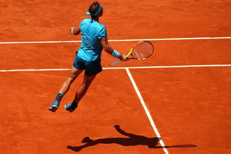 There are very few things Rafael Nadal loves more than a hot sunny day on clay