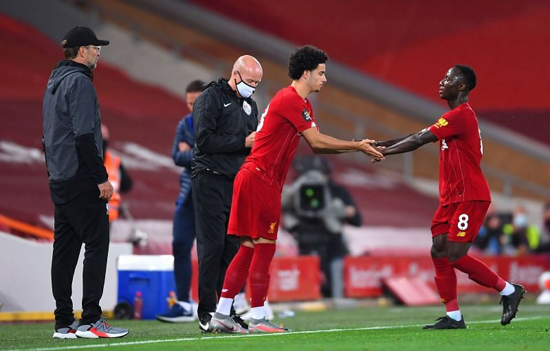 Naby Keita and Curtis Jones for Liverpool