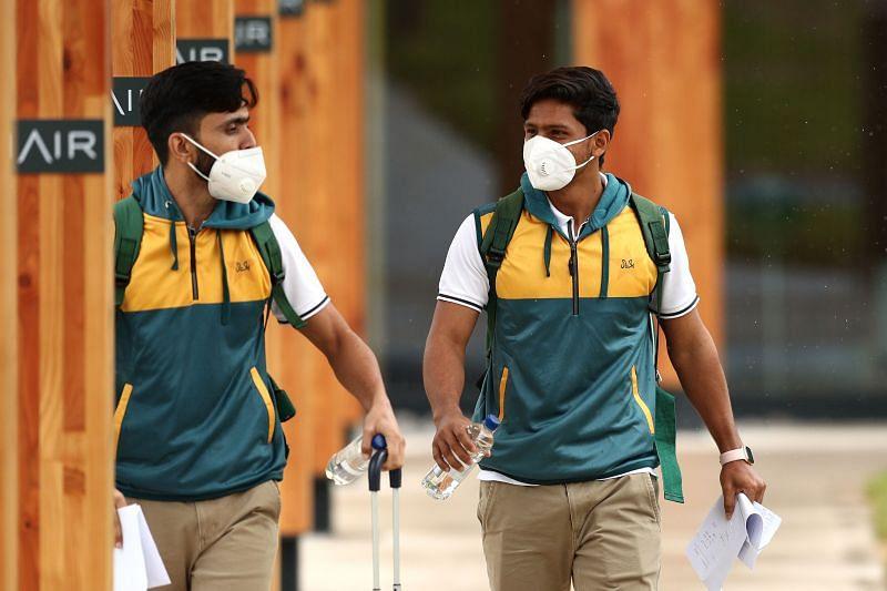 Pakistan Test Team Arrive in England