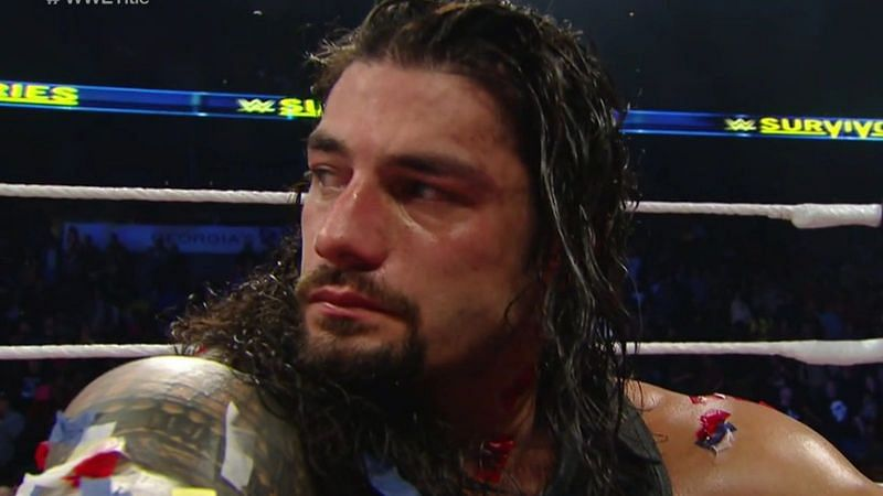 Roman Reigns usually wins matches with a spear