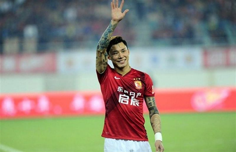 Zhang Lingpeng is suspended for Guangzhou Evergrande