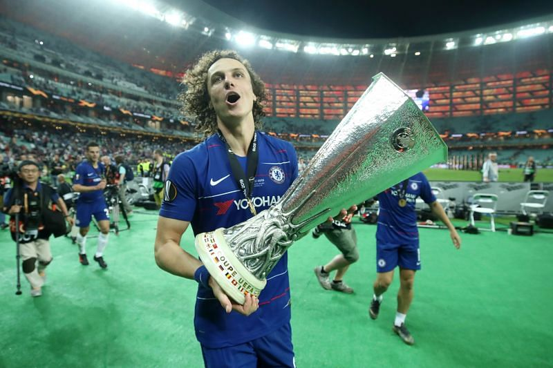 Luiz won two Europa League titles while at Chelsea
