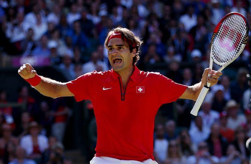 Roger Federer after defeating Del Potro
