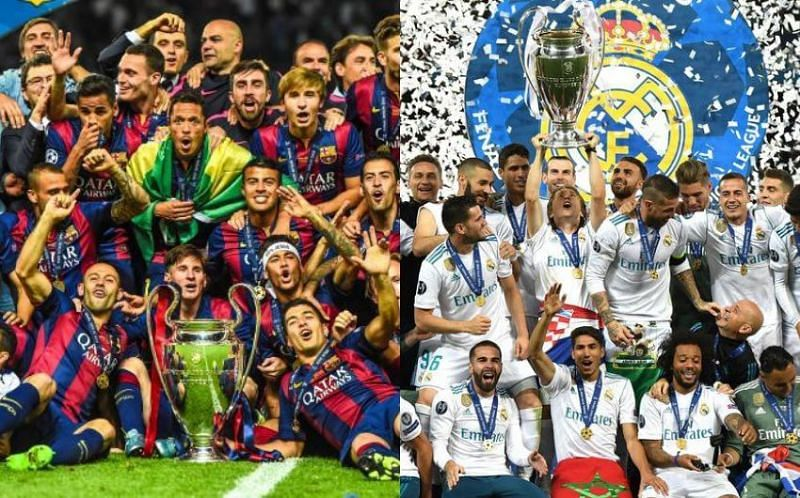 Barcelona and Real Madrid are two of the most successful clubs in Europe