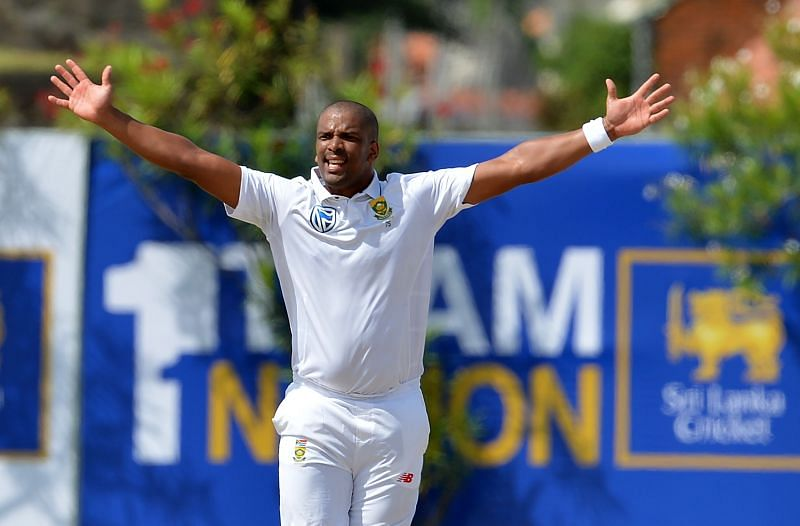 Vernon Philander in action for South Africa