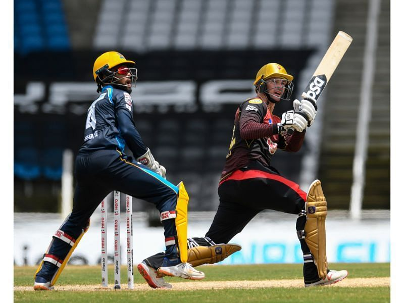Munro (R) was clinical against the Tridents in their CPL match.