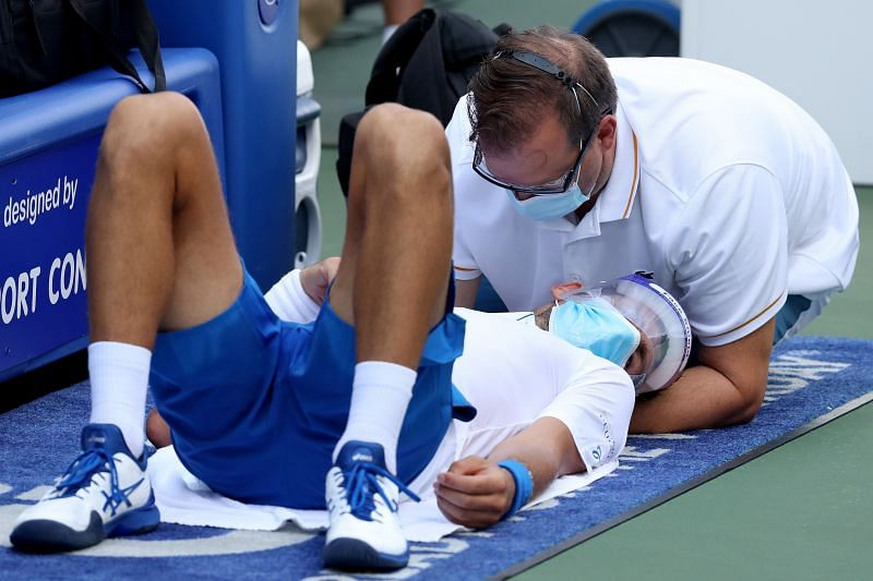 Novak Djokovic overcame an injury in his win over Roberto Bautista Agut