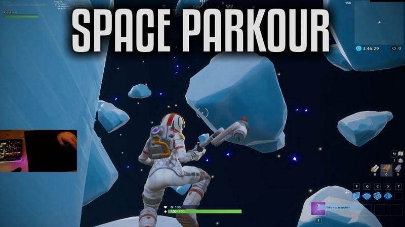 space parkour fortnite map