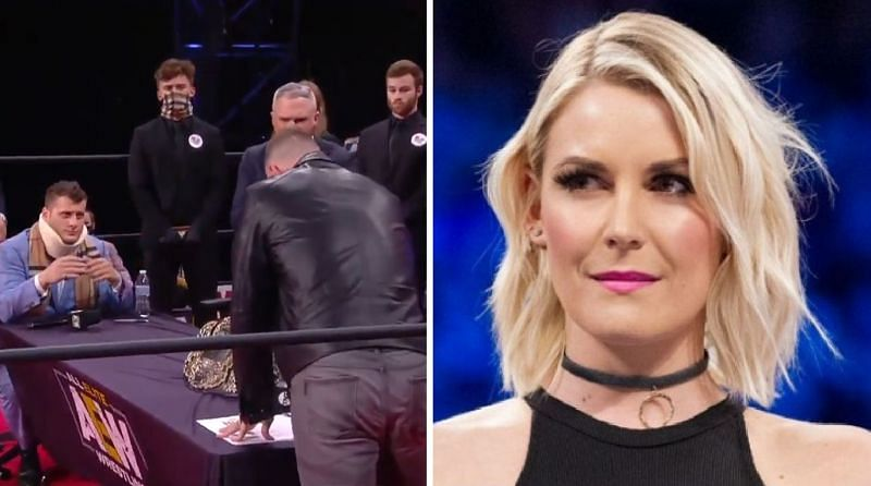 Renee Young reacts to MJF mentioning her on AEW Dynamite