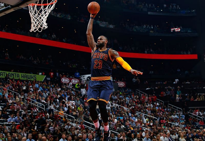 LeBron James in action for the Cleveland Cavaliers