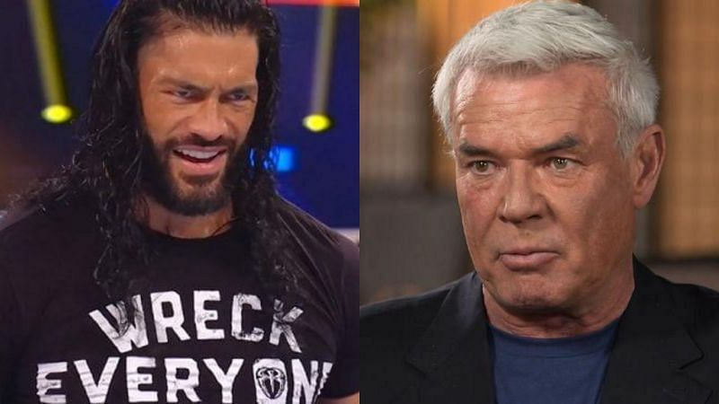 Roman Reigns and Eric Bischoff.
