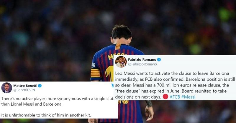 Lionel Messi has informed Barcelona that he wants to leave, the club has confirmed