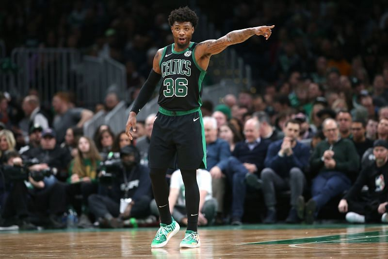 Marcus Smart took on the challenge of guarding Giannis
