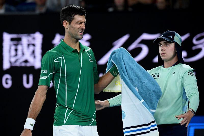 Novak Djokovic was in discomfort during his opener at Cincinnati