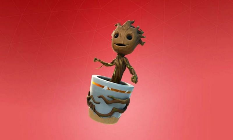 One Marvel Comics character that appears in the new Fortnite season is Groot (Image Credit: Epic Games)