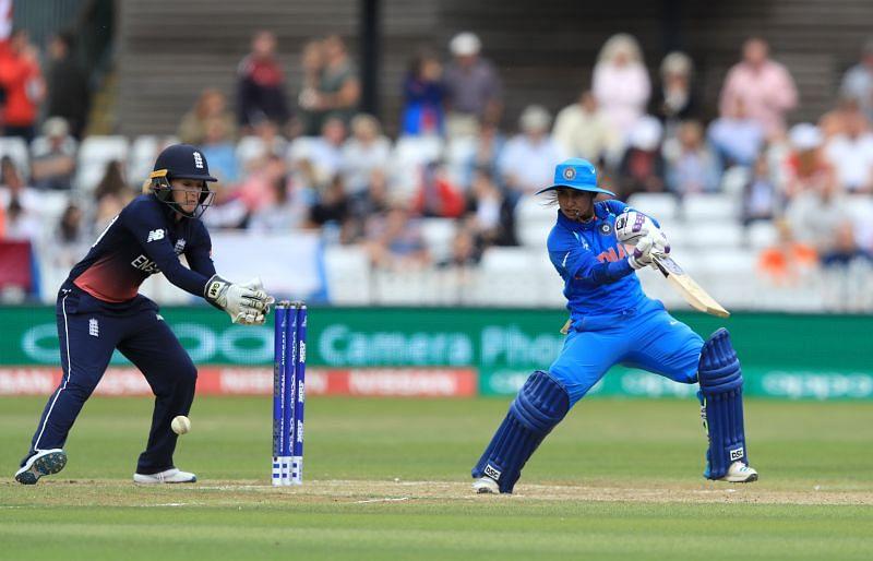 Mithali Raj batting against England in ICC Women