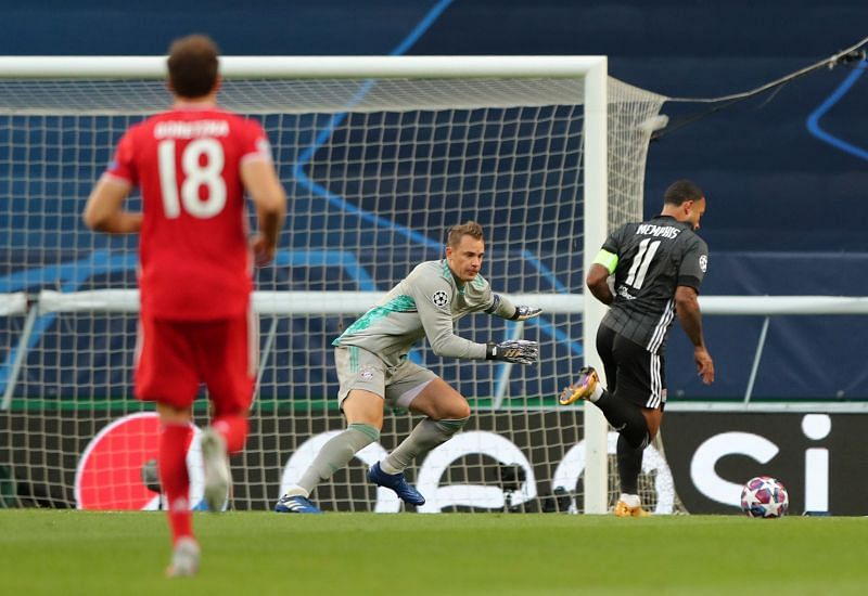Manuel Neuer in action during the UEFA Champions League Semi Final