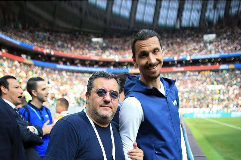 Mino Raiola with Zlatan Ibrahimovic