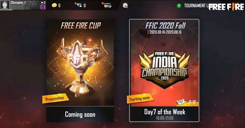 Select Free Fire Championship 2020 to go into the main tournament (Image credit: Free Fire/YT)