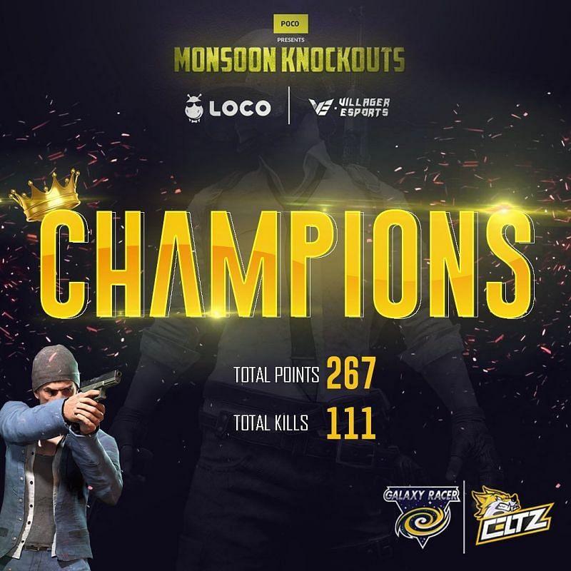 GXR-Celtzare the PUBG Mobile Original Monsoon Knockouts winners