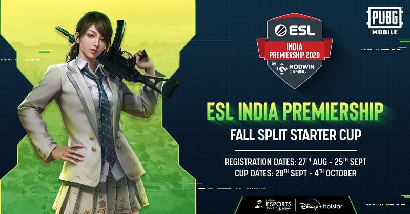 The registration for ESL India Fall Split Starter Cup 2020 has been open for all the titles since 27th August