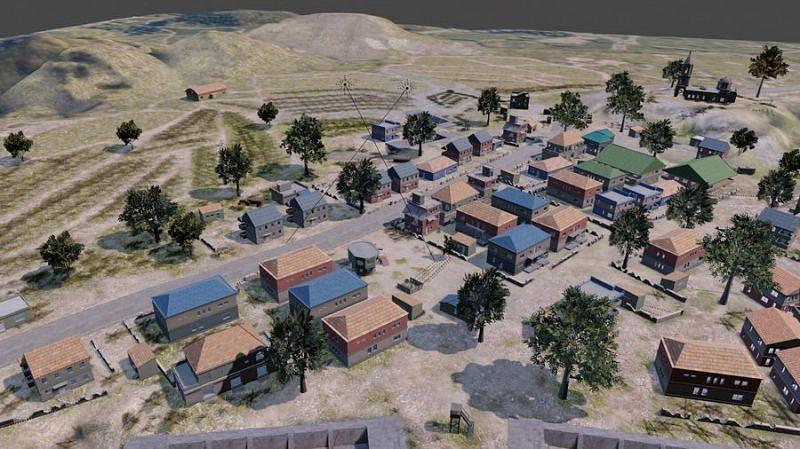 Pochinki in PUBG Mobile (Image credits: Free3D.com)