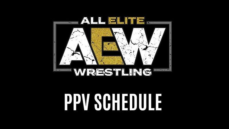 AEW PPV Schedule