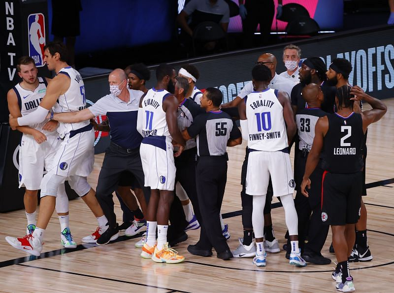 Marcus Morris and Luka Doncic got into another altercation
