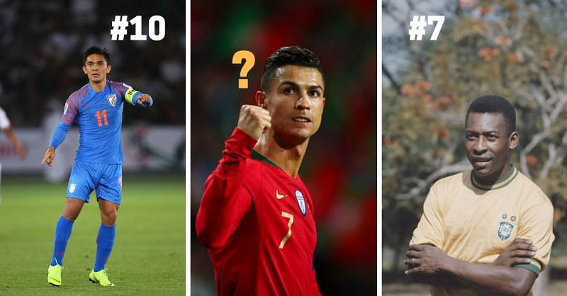 Sunil Chhetri, Pele and Cristiano Ronaldo have all had glorious careers for their respective countries