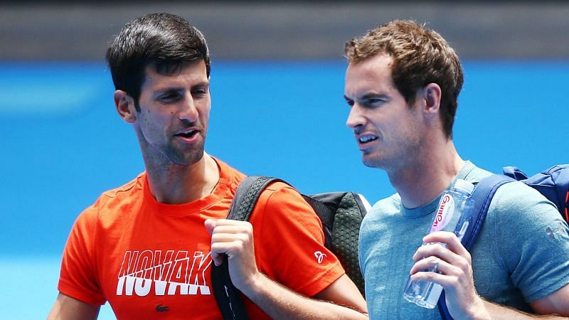 Novak Djokovic and Andy Murray - cropped