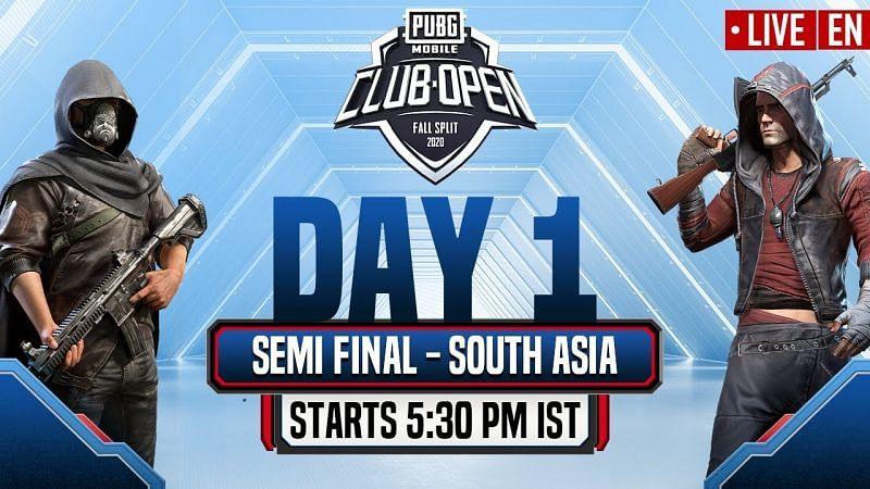 PUBG Mobile Club Open Fall Split South Asia 2020 (Image Credits: PUBG Mobile Esports)