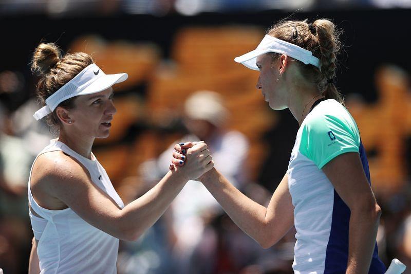 Simona Halep beat Elise Mertens at the Australian Open this year