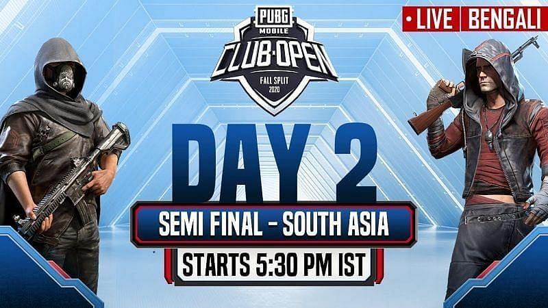 PUBG Mobile Club Open Fall Split 2020 South Asia (Image Credits: PUBG Mobile Esports)