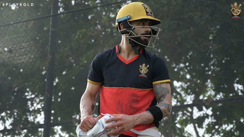 Kohli and RCB took to the field today ahead of IPL 2020 [PC: RCB Twitter]