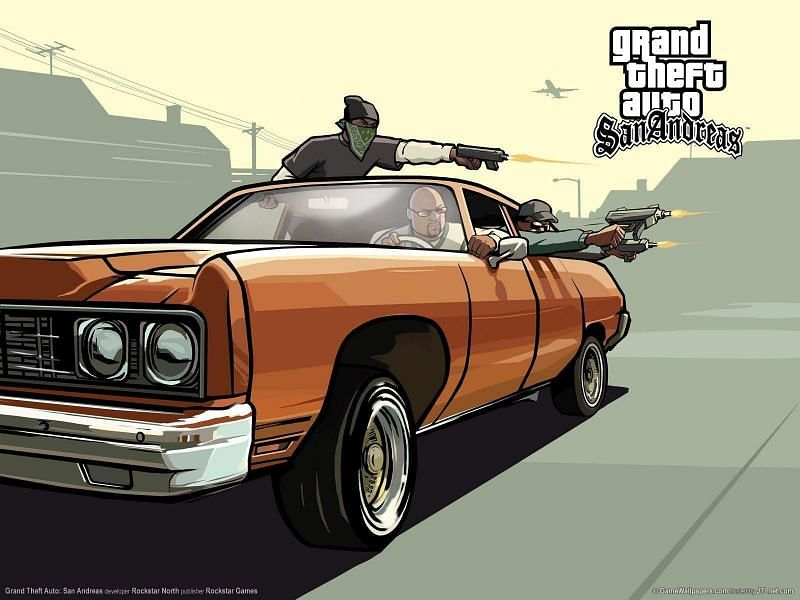 GTA San Andreas was released for iOS and Android devices in December 2013 (Image Source: Wallpapercave.com)