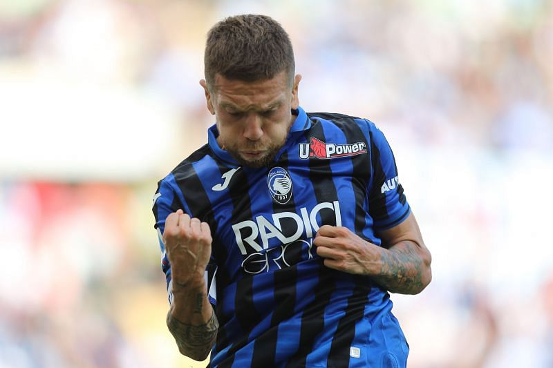 Papu Gomez celebrates a goal for Atalanta