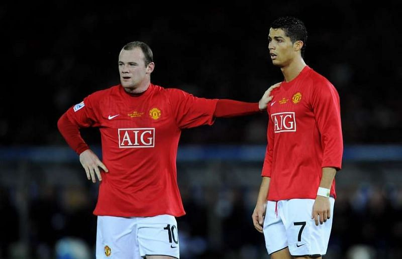 Wayne Rooney and Cristiano Ronaldo played together at Manchester United for five years